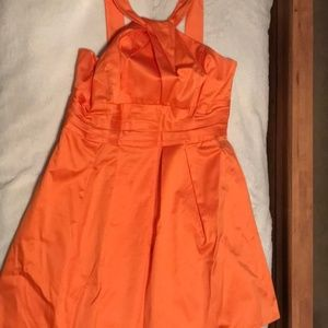David's Bridal 8369OFY Tangerine Bridesmaid dress